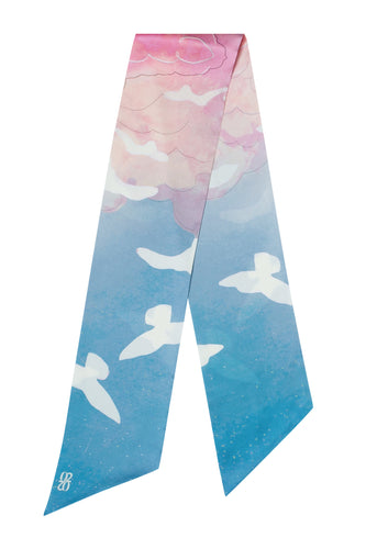 Bird Oblong Scarf