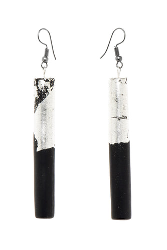 Resin Tube Earrings