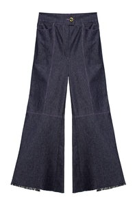 Wide Leg Denim Pants