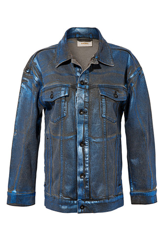 Foil Coated Denim Jacket