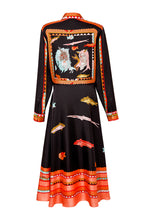 Load image into Gallery viewer, Silk Long Shirtdress - Black