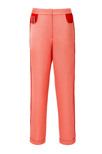 Side Stripe Silk Pants
