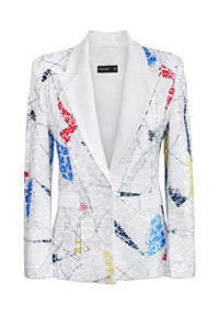 Mosaic Lace Tailored Jacket