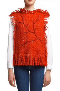 Branch Fringe Knit Top