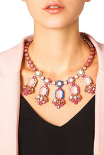 Load image into Gallery viewer, Pink Stone Jeweled Necklace