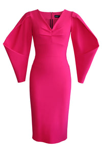 Lantern Sleeve Dress - Pink
