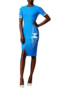 Laser Cut Asymmetric Dress