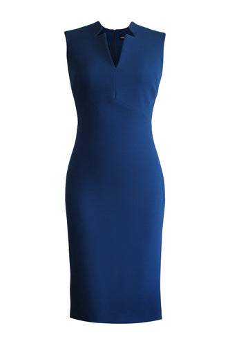 Sleeveless Pencil Dress - Blue