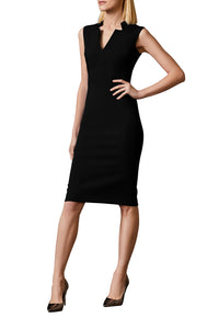 Sleeveless Pencil Dress - Black
