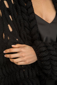 Open Weave Sweater Jacket