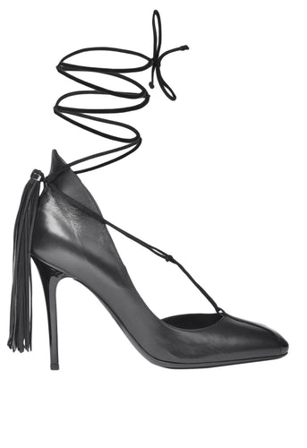 Colette Black Lace Up Pumps