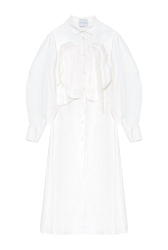 Petal Front Shirtdress