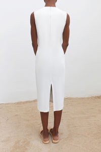 Fitted Stretch Cotton Dress
