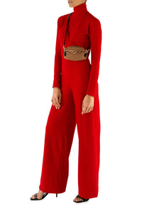 Rib Knit Turtleneck Jumpsuit