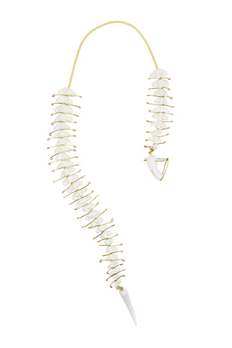 Skeleton Ceramic Long Necklace