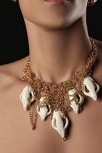 Load image into Gallery viewer, Serpent Head Charm Necklace