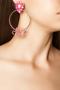Ice Cream Earrings - Pink