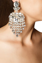 Load image into Gallery viewer, Crystal Pear Chandelier Earrings
