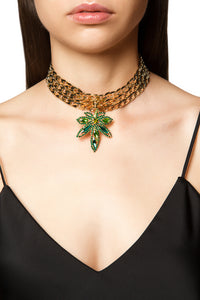 Happy Leaf Crystal Choker