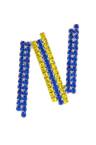 N Brooch - Blue