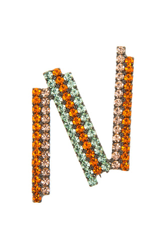 N Brooch - Orange