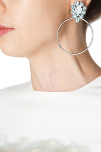 Crystal Circle Hoops
