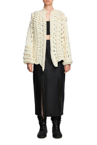 Open Weave Wool Cardigan