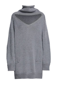 Cutout Turtleneck Sweater