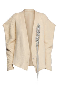 Embellished Structured Cardigan - Ivory