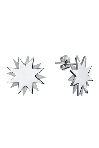 Double Star Earrings - Silver