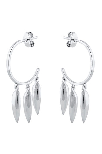 Spear Hoop Earrings