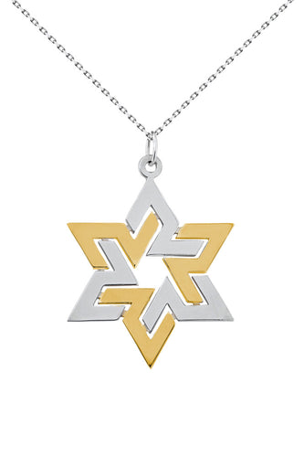 Star Necklace - Gold and Silver