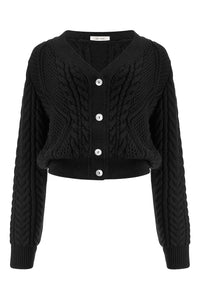 Mishutka Merino Cable Wool Cardigan