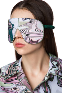 Silk Sleep Mask - Marble Print