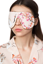 Load image into Gallery viewer, Silk Sleep Mask - Japanese Garden Print