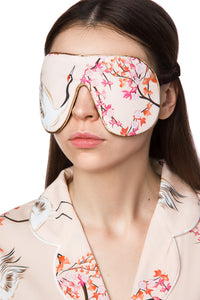 Silk Sleep Mask - Japanese Garden Print