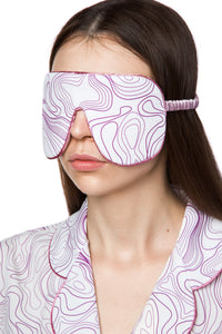 Silk Sleep Mask - Swirl Print