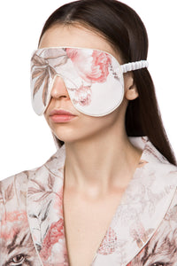 Silk Sleep Mask - Jungle Garden Print