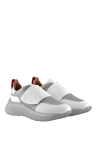 Bip Art Sneakers - White and Grey