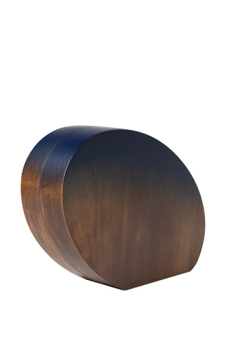 Oval Wood Clutch
