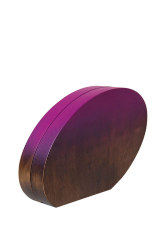 Oval Ombre Wood Clutch