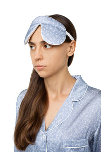 Silk Sleep Mask - Air Dandelions Print