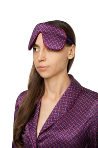 Silk Sleep Mask - Geometric Print