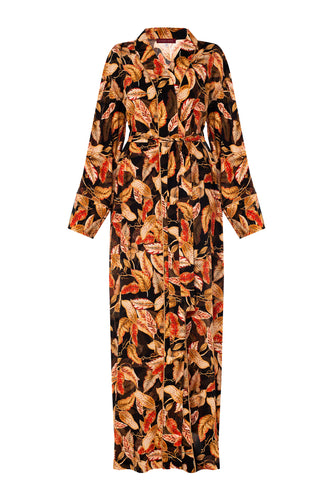 Autumn Leaves Dressing Gown