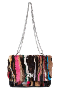Fur Leather PVC Shoulder Bag