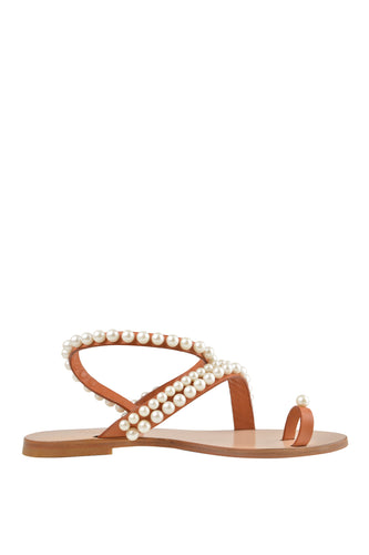 Dreamy Pearl Sandals - Brown