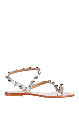 Silver Light Studded Sandals