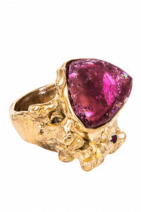 Garnet and Tourmaline Ring - Love