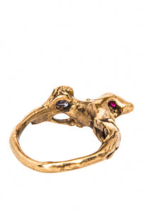 Cubic Zirconia and Garnet Ring - Love and Energy