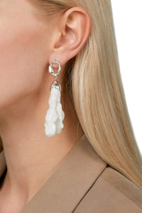 Porcelain Earrings - Silver